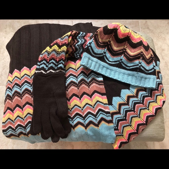 768a2ad7d Missoni for Target Hat Scarf and Gloves Set NWT